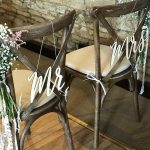 Rustic Oak Cross Back Chair Hire - Blue Goose Hire