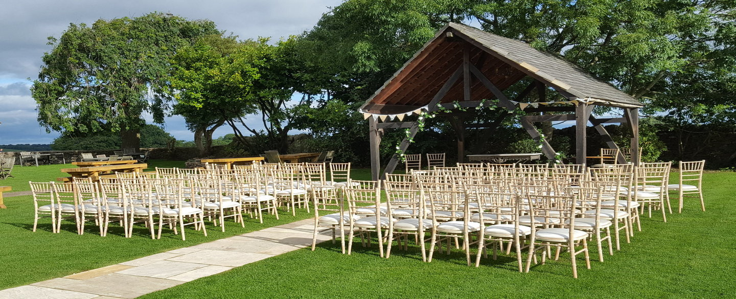 Limewash chiavari chair hire - Blue Goose Hire