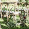 Rustic oak crossback chairs - Blue Goose Hire
