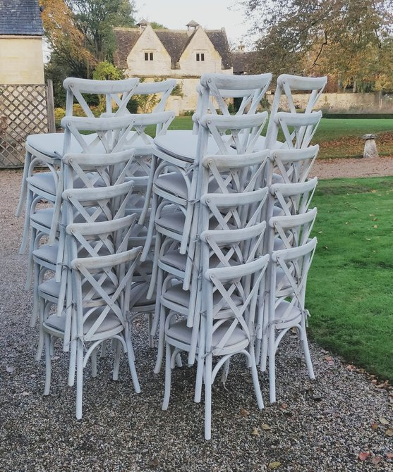 whitewashed oak crossback chair hire - blue goose hire