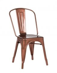Copper Metal Chair Hire - Blue Goose Hire